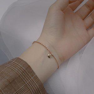NEW Rose Gold/Sterling Silver Lucky Bead Bracelet